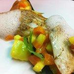 Steinbutt mit Mango-Karottenconfit