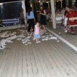 Greek night. napkins used instead of plate smashing.