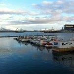 A proximité le port de Reykjavik