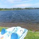 The lake which people can swim, water walk, pedelo, fish etc