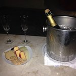 Champagne and Cheese from our Butler