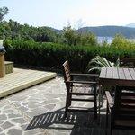 Vista dal giardino del Solcalante con Jacuzzi