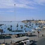 The view of Marsaxlokk harbour from Duncan's roof