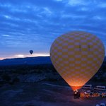Hot air balloon ride booked by the hotel