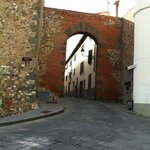 One of the town's Arch ways and Ancient wall.