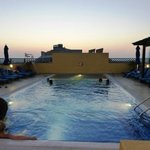 Roof Pool at late evening