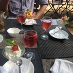 deserts followed by glass of rose in the sun!