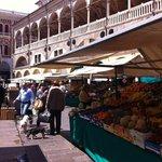 Piazza della Erbe around the corner
