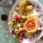 Delicious quiche and salad
