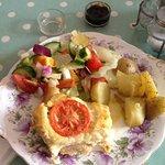 Delicious quiche and salad