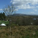 Overlooking Pink Apple Orchard, Lough Allen and The Iron Mountains.