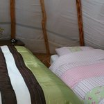The Wood Man's Teepee - Made ready for a small family staying at Pink Apple Orchard