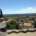 Scenic views across the valley to the Rhone