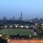 room with a view, Cairo Tower in the foreground.