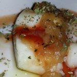 Bacalao con Mermelada de Calçot y Pimiento