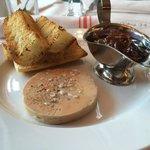 Foie gras terrine, shallot port marmelade
