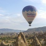 A view of the other Butterfly Balloon during our flight