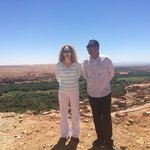 me and Ibrahim at a roadside viewpoint