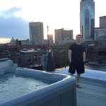 Rooftop Hot Tub with an incredible view of Boston. Not to be missed!