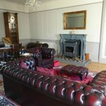 One view of the downstairs lounge