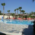 the swimming pool of argiri hotel