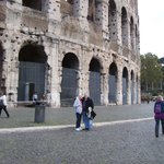 my mother and i at the Coliseum