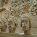 Heads from the facade of Notre Dame