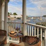 Waterview Grand Suite Balcony View of Camden Harbor