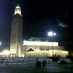 Hassan ll Mosque by night