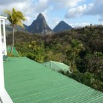 Room view of the Pitons