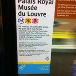 Palais Royal Station in line 7 closed