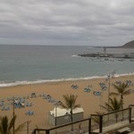 Lovely view from room - even on a cloudy day! Las Canteras, Las Palmas