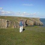 Pastures above cliffs