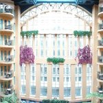 Panoramic view of atrium