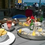 Seafood Platter and 6 x extra oysters with cava