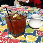 Our delicious Bloody Mary at Bella's!!