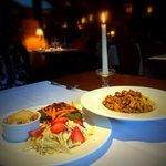 crepes and tagliatelli w/ chantrellles