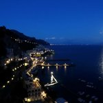 View of Amalfi from Convento During Full Moon