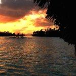 Sunset over Bora Bora