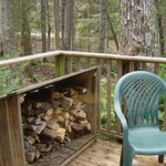 deck and free firewood
