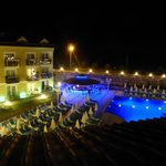 pool by night-view from our secure balcony