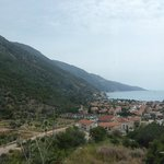 view of hotel and Olu Deniz from hill just at back of hotel