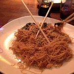 Smoked chicken noodle. Delish