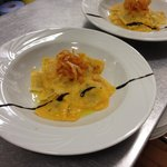 Homemade pumpkin ravioli