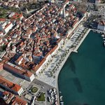 The view of Split from the air