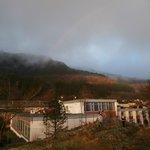 Bergen Hostel in April after a rain shower
