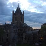 View of Christchurch Cathedral from our room.