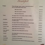 Menu: Breakfast