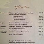 Menu: Gluten Free!