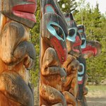 Totems outside the centre